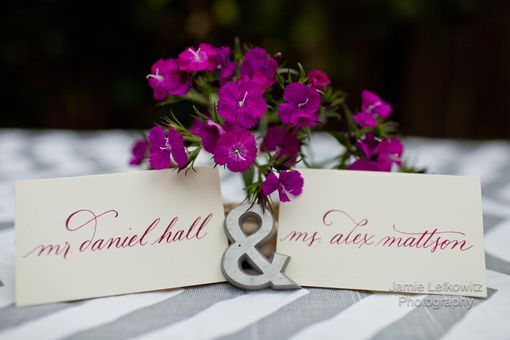 Custom Made Custom Calligraphy Place Cards & Tags For Weddings & Events