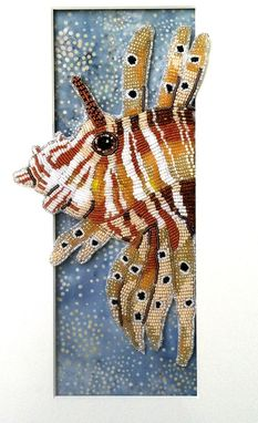 Custom Made Seed Bead Embroidered Lion Fish