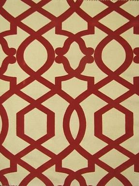 Custom Made Custom Designer Curtain Panels: Iman Sultana Velvet Lattice 90l X 50w