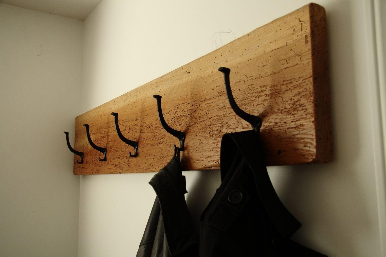 Hand Made Coat Rack Reclaimed Barnwood 60 X 11-1/2 X 1-3/4 ...