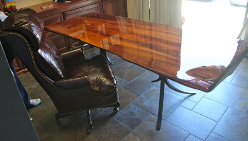 Custom Made Old Growth Redwood Executive Desk