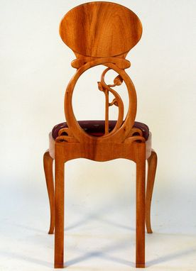 Custom Made Lady's Art Nouveau Chair To Go With Desk