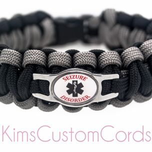 Personalized Medical Alert Id Bracelets Made With 550 Paracord By