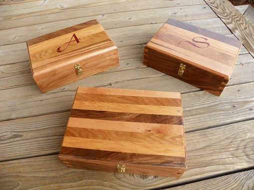 Custom Made Dovetailed Box Using Four Wood Types
