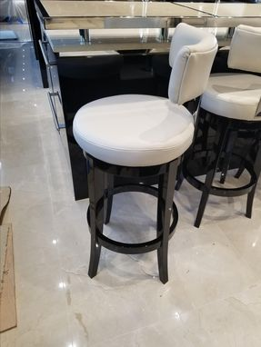 Custom Made Sapele Wood Bar Stools