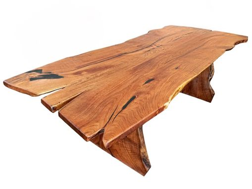 Custom Made Slab Live Edge Mesquite Rustic Dining Table