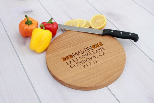 Custom Made Personalized Cutting Board, Engraved Cutting Board, Custom Wedding Gift – Cbr-Wo-Martinboldarrow