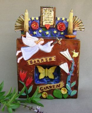 Custom Made Barrio Garden 1 Ceramic Santos/ Shadow Box.