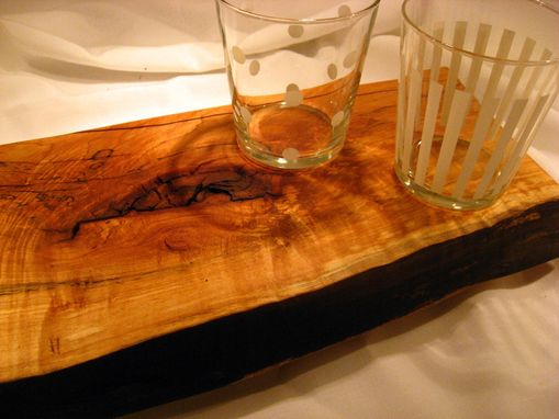 Custom Made Live Edge Maple Cutting Board/Serving Plate