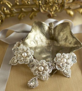 Custom Made Sonnet Necklace | Bridal Statement Necklace/ Halo Headband