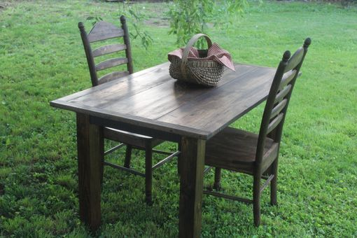 Custom Made Reclaimed Hardwood Dining Set