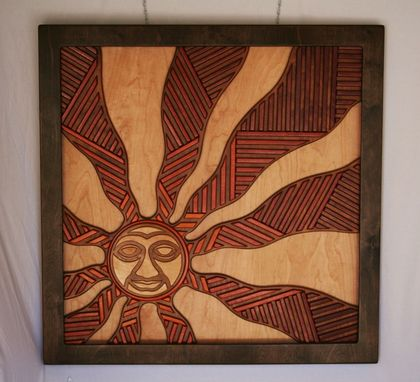 "Custom Made ""Sunburst"" Multidimensional Layered Carving"