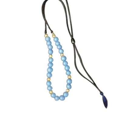 Custom Made Eco Friendly Elegant Terracotta Blue Beads Necklace