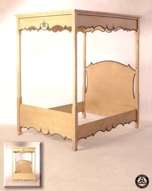 Custom Made #1201b French Country Canopy Bed