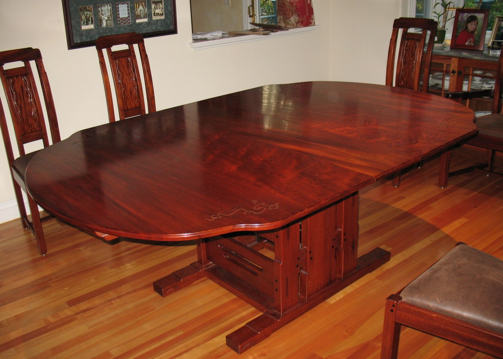 Custom dining room table gamble house by paula garbarino for Custom dining room tables