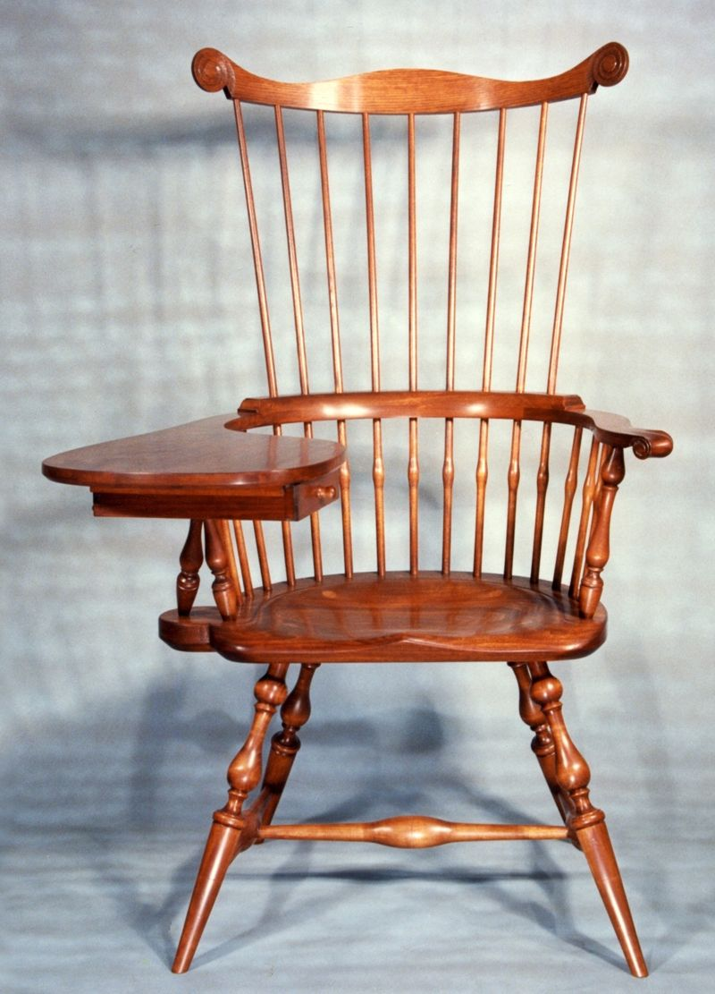 Custom Made Maine Windsor Comb Back Writing Arm Chair