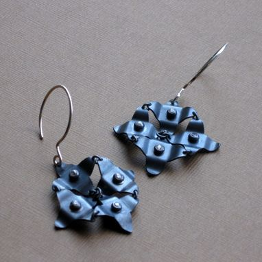 Custom Made Chj Silver And Cz Galaxy Earrings