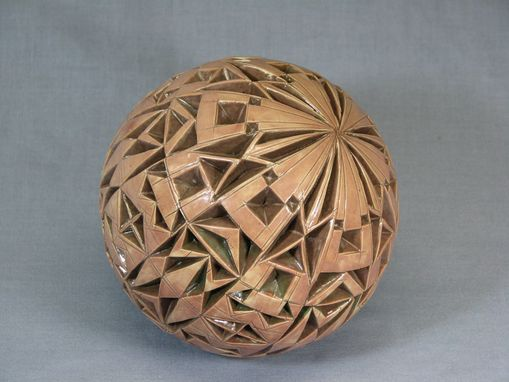 Custom Made Tan/Brown Carved Sphere