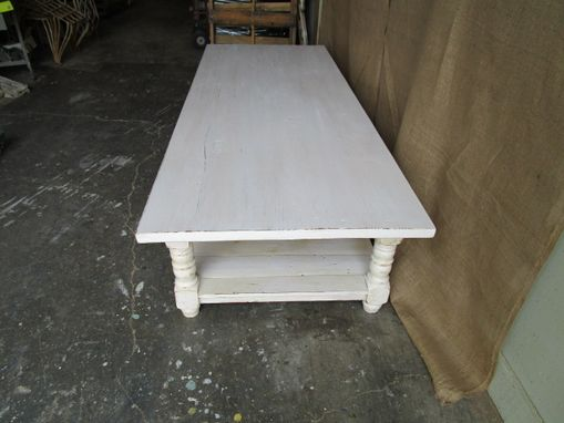 Custom Made Coffee Table Made From Reclaimed Wood In The Usa