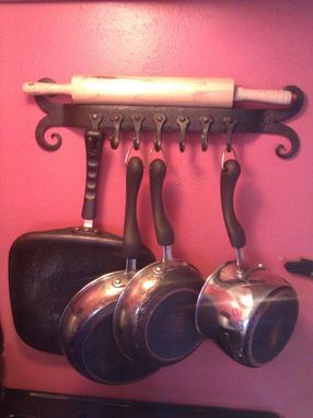Custom Made Ram's Head Pot Rack
