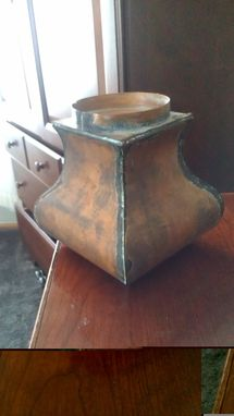 Custom Made Copper Candle Holder
