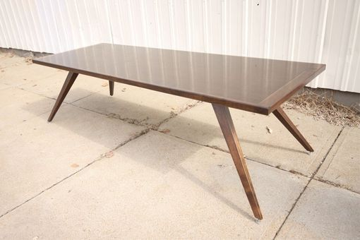 Custom Made Splay Table, Mid Century Modern Styling