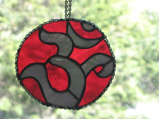 Custom Made Custom Stained Glass Ohm Symbol