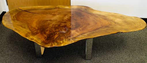Custom Made Live Edge Coffee Table - Redwood