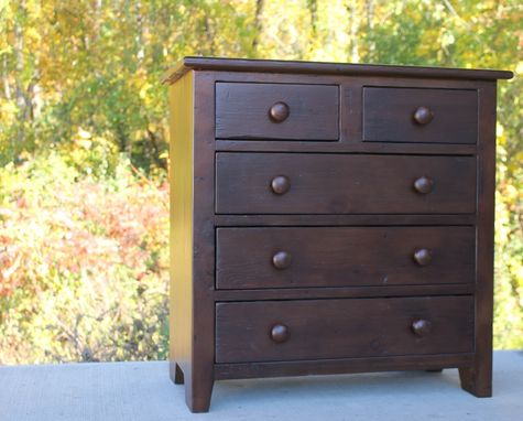 Custom Made 5 Drawer Night Stand In Espresso Finish