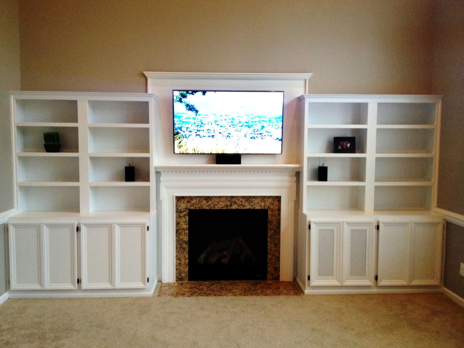 Hand Crafted Built In Entertainment Center By Carolina