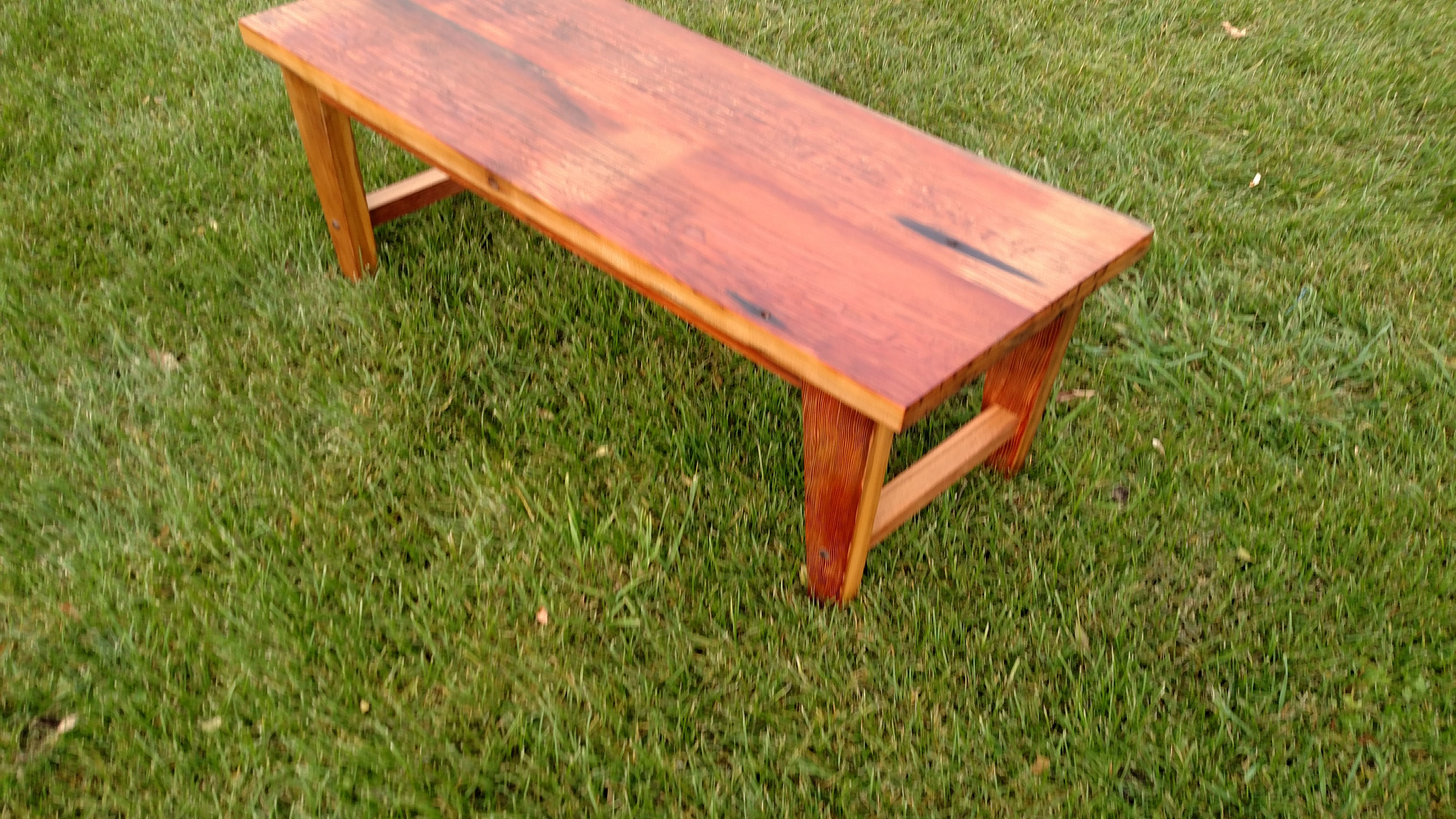 A Hand Made Heinz Pickle Wood Bench