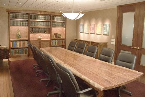 Custom Made Bubinga Conference Table