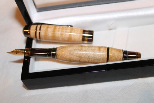 Custom Made Classic Elite Fountain Pen - Curly Maple