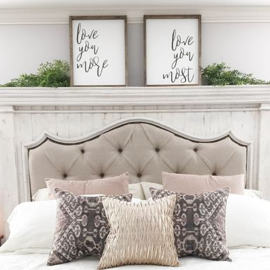 Custom Made Love You More Love You Most Bedroom Wall Art Set