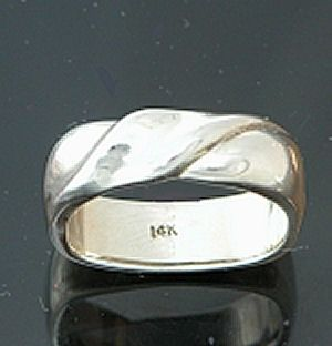 Custom Made 14kt White Gold Men's Ring