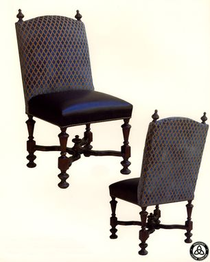 Custom Made #1301 Hand Carved Dining Chairs