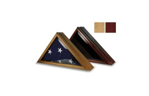 Custom Made Funeral Flag Display Box, Funeral Flag Display Case