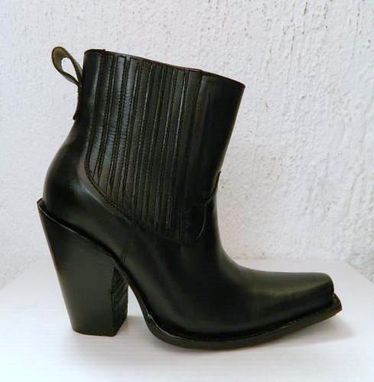 Custom Made Sharp Toe Ankle Boots 5 Inch Heels Custom Made