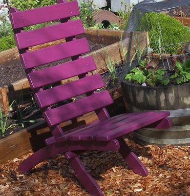 Custom Made Comfy High Back Outdoor Cedar Chair - Colorful / Durable / Storable