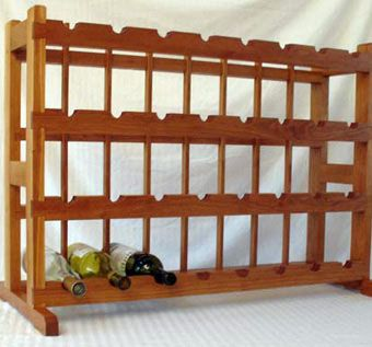 Custom Made Cherry Wine Rack