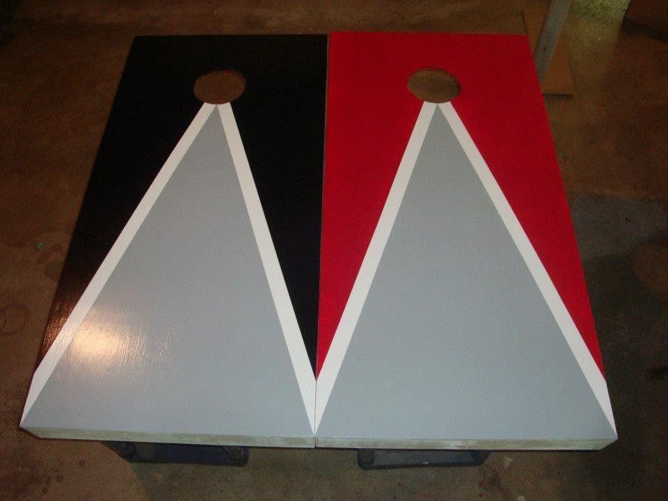 Handmade Custom Triangle Corn Hole Baggo Board Game Set