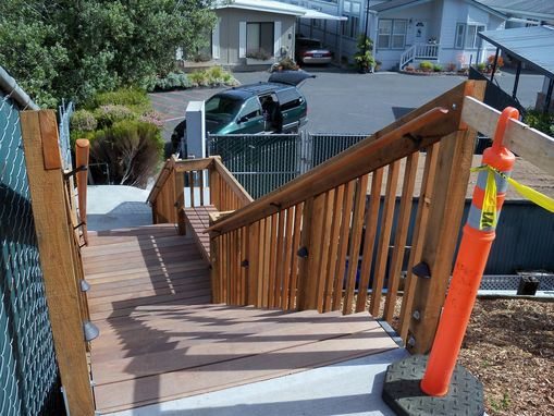 Custom Made Exterior Staircase - Pacific Grove, Ca.