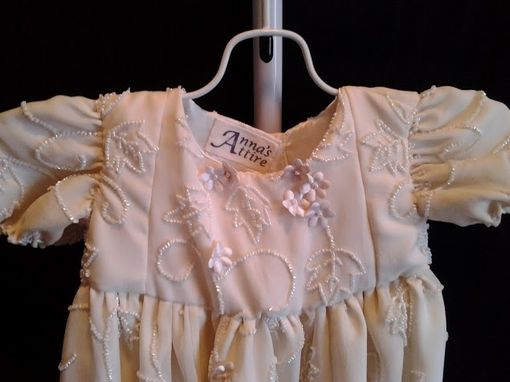 Custom Made Christening Or Baptismal Gown From Wedding Dress