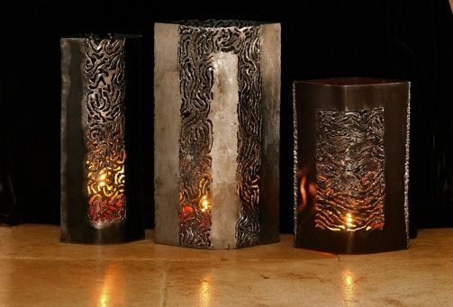 Custom Made Cut Steel Luminaries