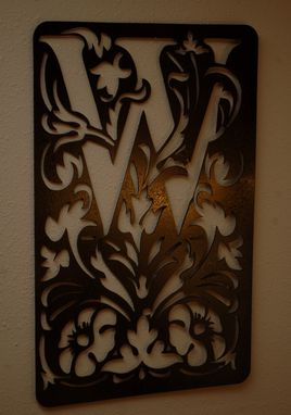 Custom Made Personalized Monogram Plaques Wall Art By Covington Iron Works