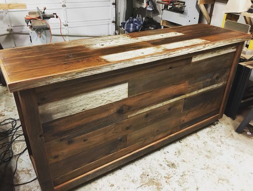 Custom Made Reclaimed Wood Front Counter