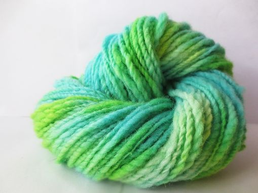 Custom Made Hand Spun Hand Dyed Yarn / Wool Yarn / Hand Spun Variegated Yarn / Handspun Worsted Weight Yarn