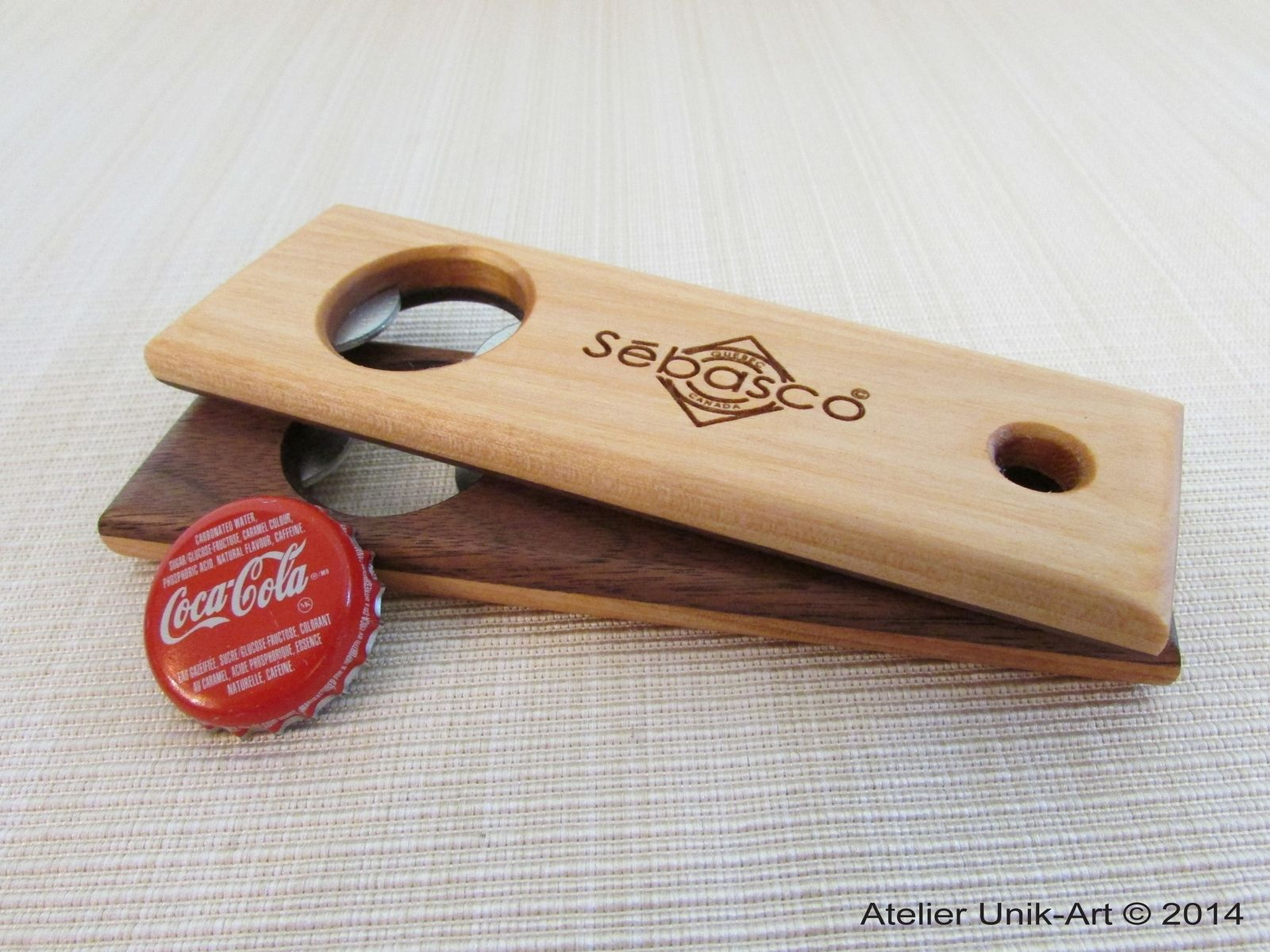 Handmade Wooden Bottle Opener By Atelier Unik Art