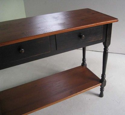 Custom Made 2 Drawer Black Console Table