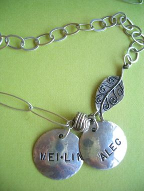 Custom Made Funky Charm Necklace In Sterling Silver
